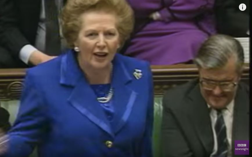 Thatcher in Parl