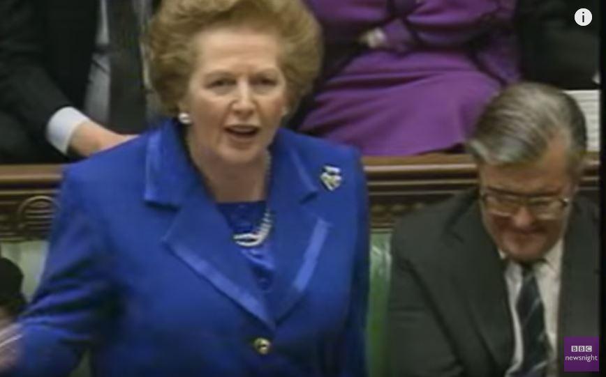Thatcher in Parl