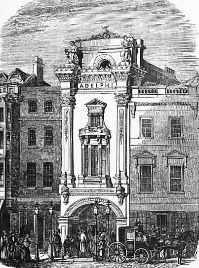 A drawing of the Adelphi by English architect and novelist Samuel Beazley in 1840. (public domain, Wikimedia Commons)